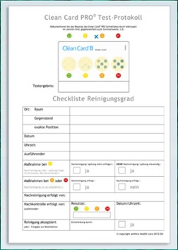 Clean Card PRO - Test-Protokoll