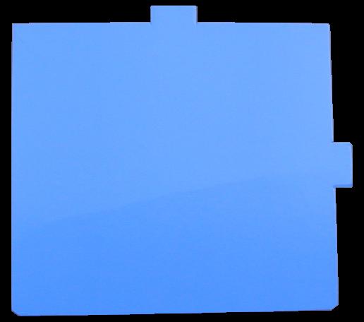 Ersatzklebefolie blau für Fly Shield 1