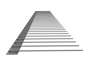 1er-Solar-Edelstahlspeichen (V2A) 125 mm